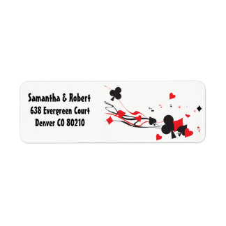 Spades Hearts Clubs Diamonds Cards red black white Label