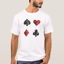 Spades Hearts Diamonds Clubs T-Shirt