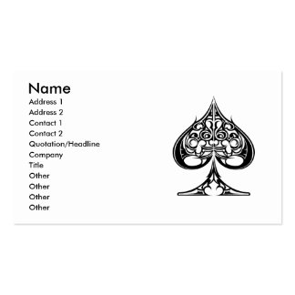 Spades, Name, Address 1, Address 2, Contact 1, ... Double-Sided Standard Business Cards (Pack Of 100)