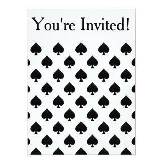 """Spades Pattern 5.5"""" X 7.5"""" Invitation Card"""