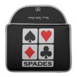 Spades Player custom MacBook sleeve Sleeves For MacBooks