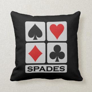 Spades Player throw pillow