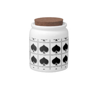 Spades playing card suit pattern candy jar