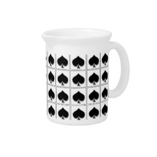 Spades playing card suit pattern drink pitcher