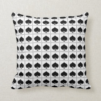 Spades playing card suit pattern throw pillow