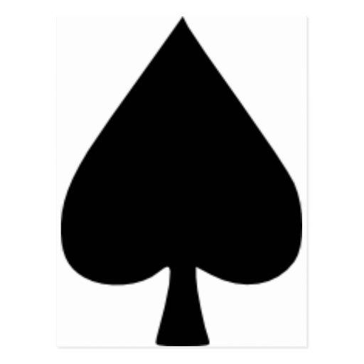Spades - Poker Postcards