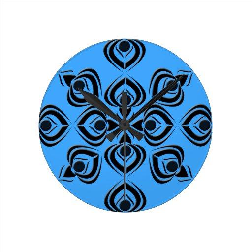 Spades Round Clock