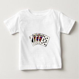 Spades Royal Flush Baby T-Shirt