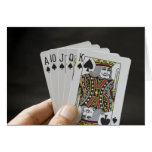 Spades Royal Flush Card