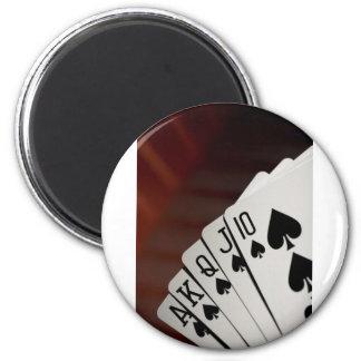 Spades Royal Flush Magnet