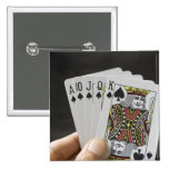 Spades Royal Flush Pinback Buttons