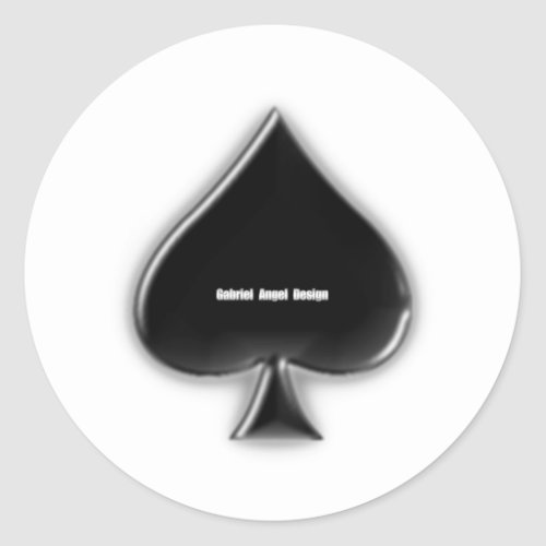 Spades Suit Classic Round Sticker