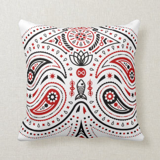 Spades - Throw Pillow (White/Red/Black)