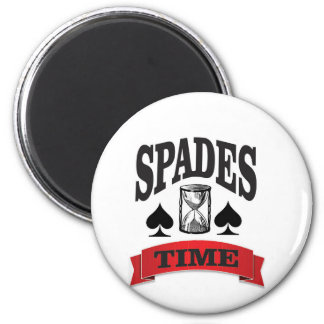 spades time with red banner magnet