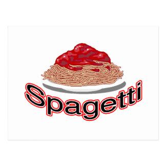 spagetti merchandise postcard