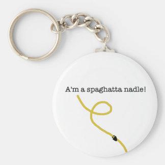 Spaghatta Nadle Keychain! Basic Round Button Keychain