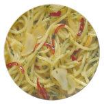 Spaghetti Aglio; Olio and Peperoncino Dinner Plate