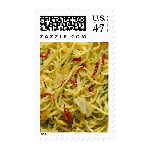 Spaghetti Aglio; Olio and Peperoncino Postage Stamp
