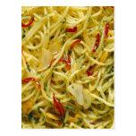 Spaghetti Aglio; Olio and Peperoncino Postcard