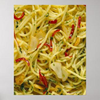 Spaghetti Aglio; Olio and Peperoncino Poster