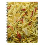Spaghetti Aglio; Olio and Peperoncino Spiral Notebook