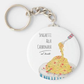Spaghetti Alla Carbonara Keychain