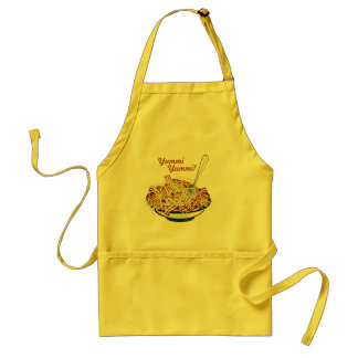 Spaghetti all'amatriciana adult apron