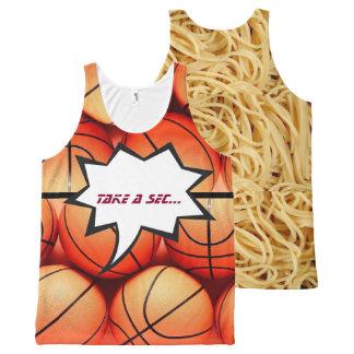 spaghetti and basketballs tank All-Over print tank top