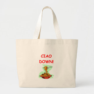 spaghetti and meatballs canvas bag