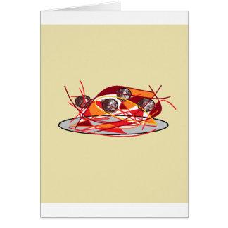 Spaghetti and Meatballs Card