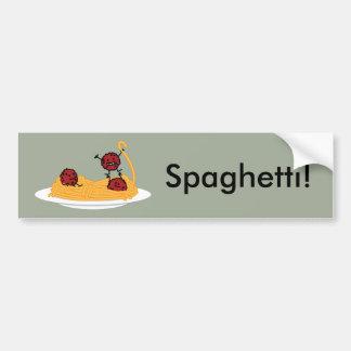 Spaghetti and meatballs pasta noodles Italian food Bumper Sticker