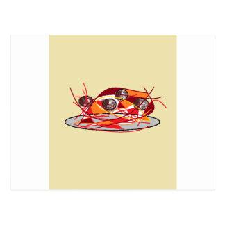 Spaghetti and Meatballs Postcard