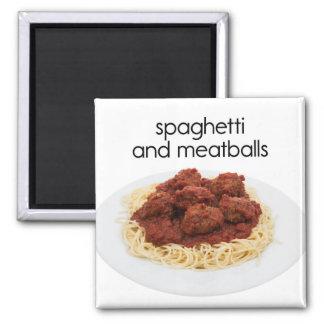 Spaghetti and Meatballs Refrigerator Magnet