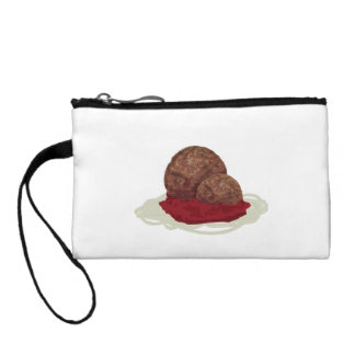 Spaghetti And Meatballs With Sauce Coin Purses
