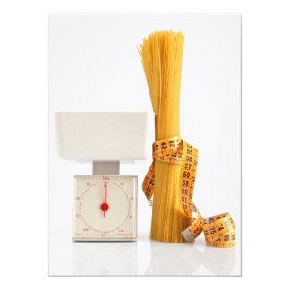 spaghetti and scale 5.5x7.5 paper invitation card