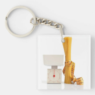 spaghetti and scale keychain