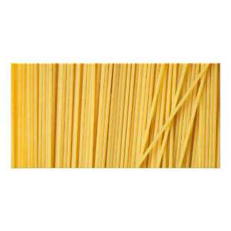 Spaghetti background custom photo card