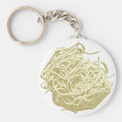 Spaghetti Basic Round Button Keychain