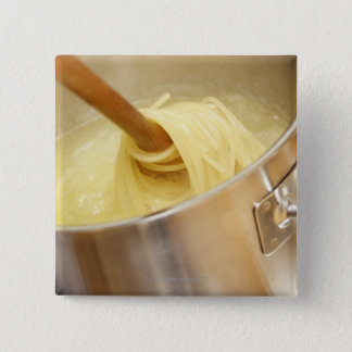 Spaghetti Being Stired in Pot Pinback Button