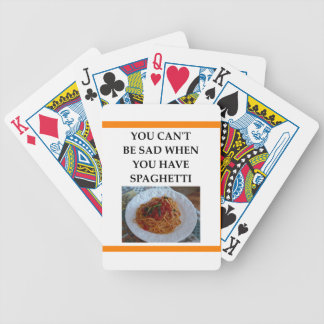 SPAGHETTI BICYCLE PLAYING CARDS
