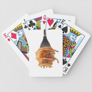 Spaghetti bolognese bicycle playing cards