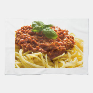 """Spaghetti Bolognese"" design kitchen towel"