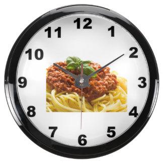 """Spaghetti Bolognese"" design wall clock Fish Tank Clock"