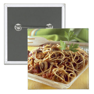 Spaghetti bolognese For use in USA only.) 2 Inch Square Button