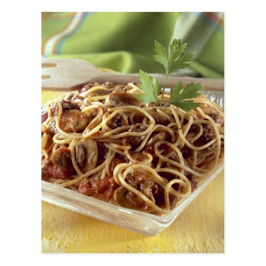 Spaghetti bolognese For use in USA only.) Postcard