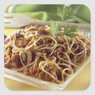 Spaghetti bolognese For use in USA only.) Stickers