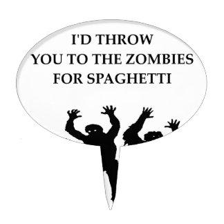spaghetti cake topper