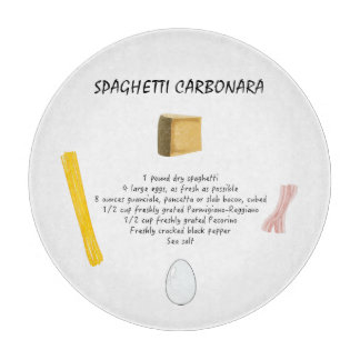 Spaghetti Carbonara Cutting Board
