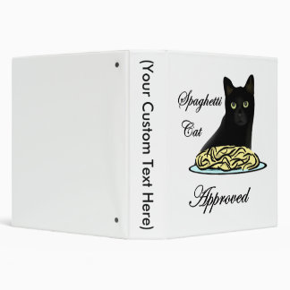 Spaghetti Cat Approved 3 Ring Binder