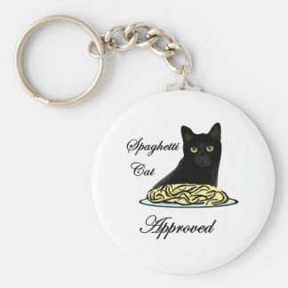 Spaghetti Cat Approved Keychain